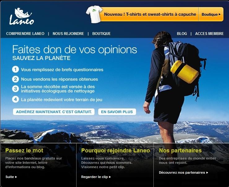 quelques sites pour aider l'environnement Laneo11