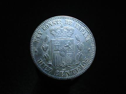 10 cts. Pts de Alfonso XII (Barcelona, 1877 d.C) Otras_14