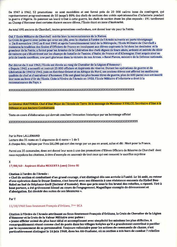 Dossier de Presse: Cérémonie INVALIDES Cherchell Ecole oubliée 8/10/10 Cherch19