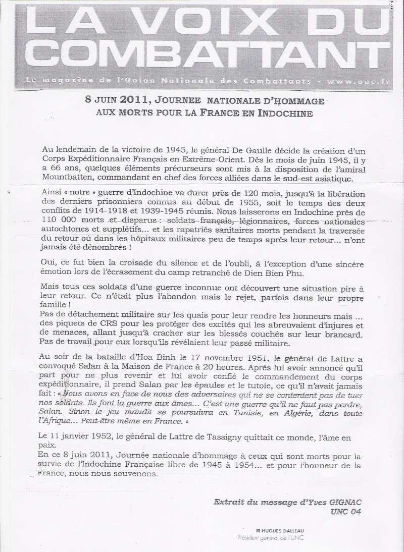 8 juin 2011 Cérémonie du Souvenir des Morts d'Indochine dans toute la France Numari10