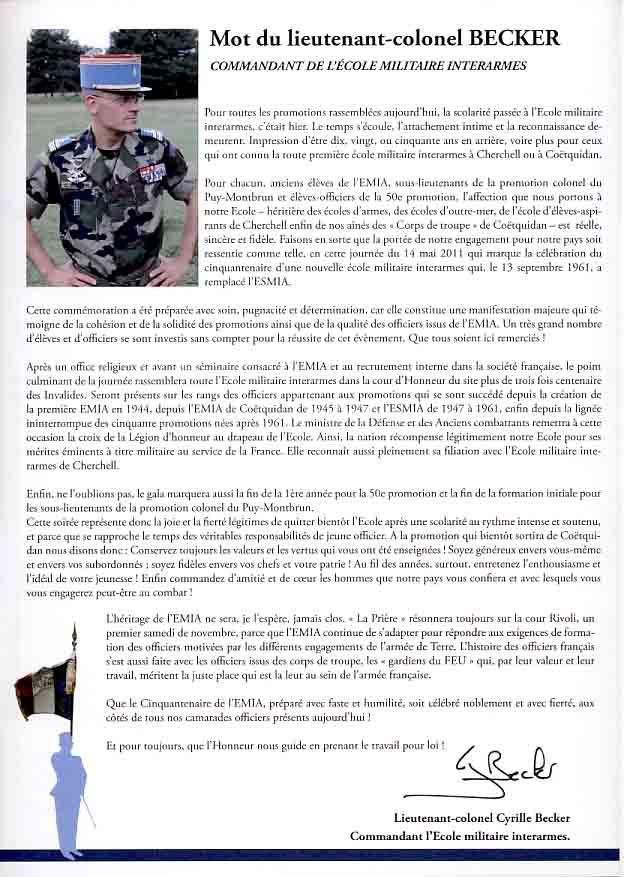 L'Ecole Militaire Interarmes reçoit la Légion d'Honneur Plaque11