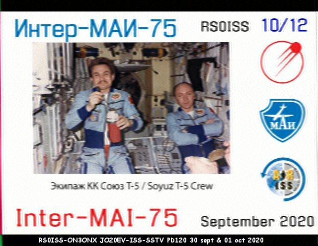 Activité SSTV depuis ISS  DATE : du 04/10/2020 au 08/10/2020 20H00 10_12_10