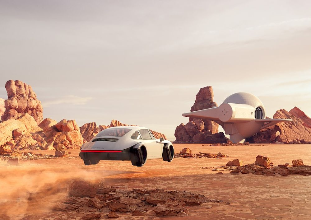 Porsche veut-il aller dans l'espace? Artist10