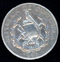 Guatemala, 1/4 de Quetzal, 1925 25cent11