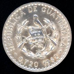 Guatemala, 50 centavos, 1962 50cent11