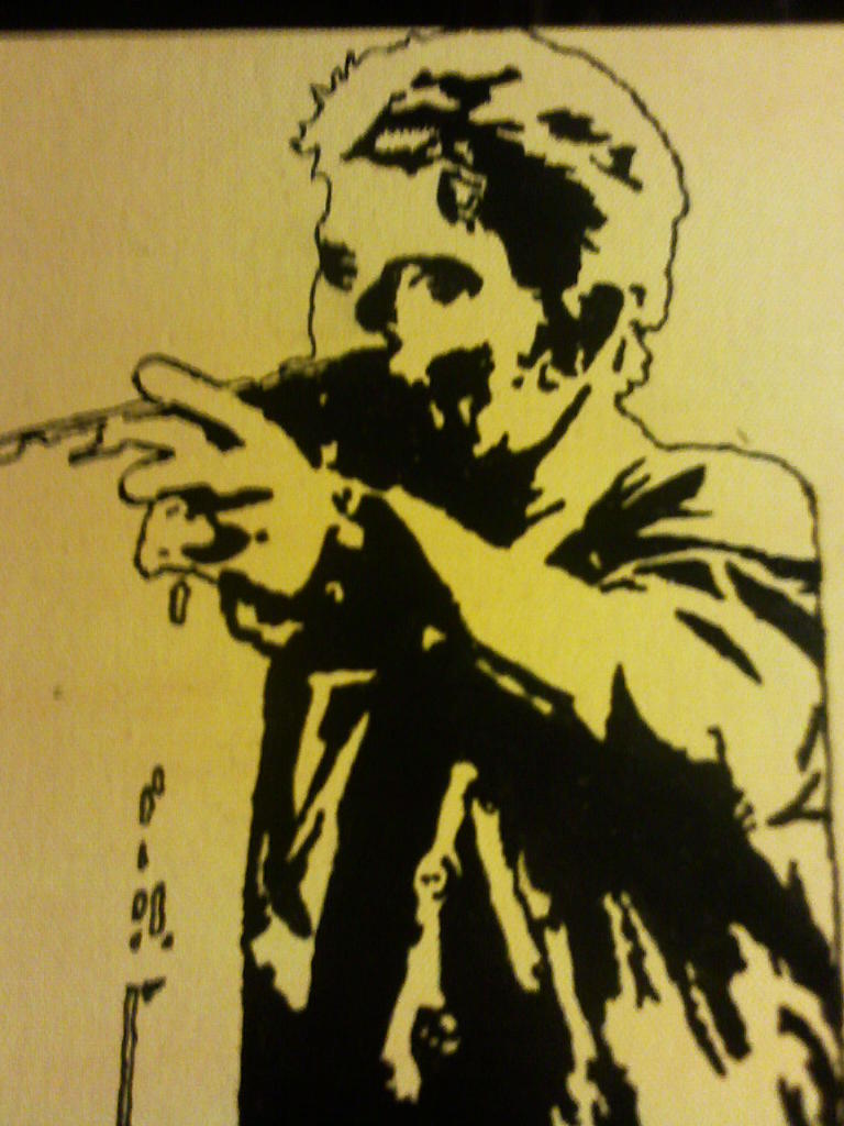 voici mon 2eme peinture que j'ai fait de johnny hallyday Image710