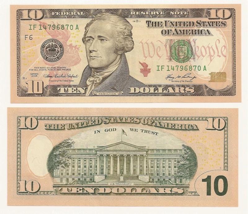 Billete 10 dólares americanos 10_dol10