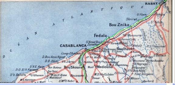 Transports CFM, Gares et Affiches du Maroc Casa_b10