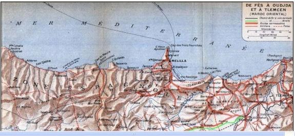 Transports CFM, Gares et Affiches du Maroc Fes-ou10