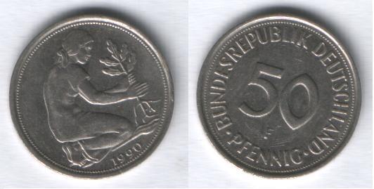Alemania, 50 Pfennig, (varias cecas fechas) Aleman10