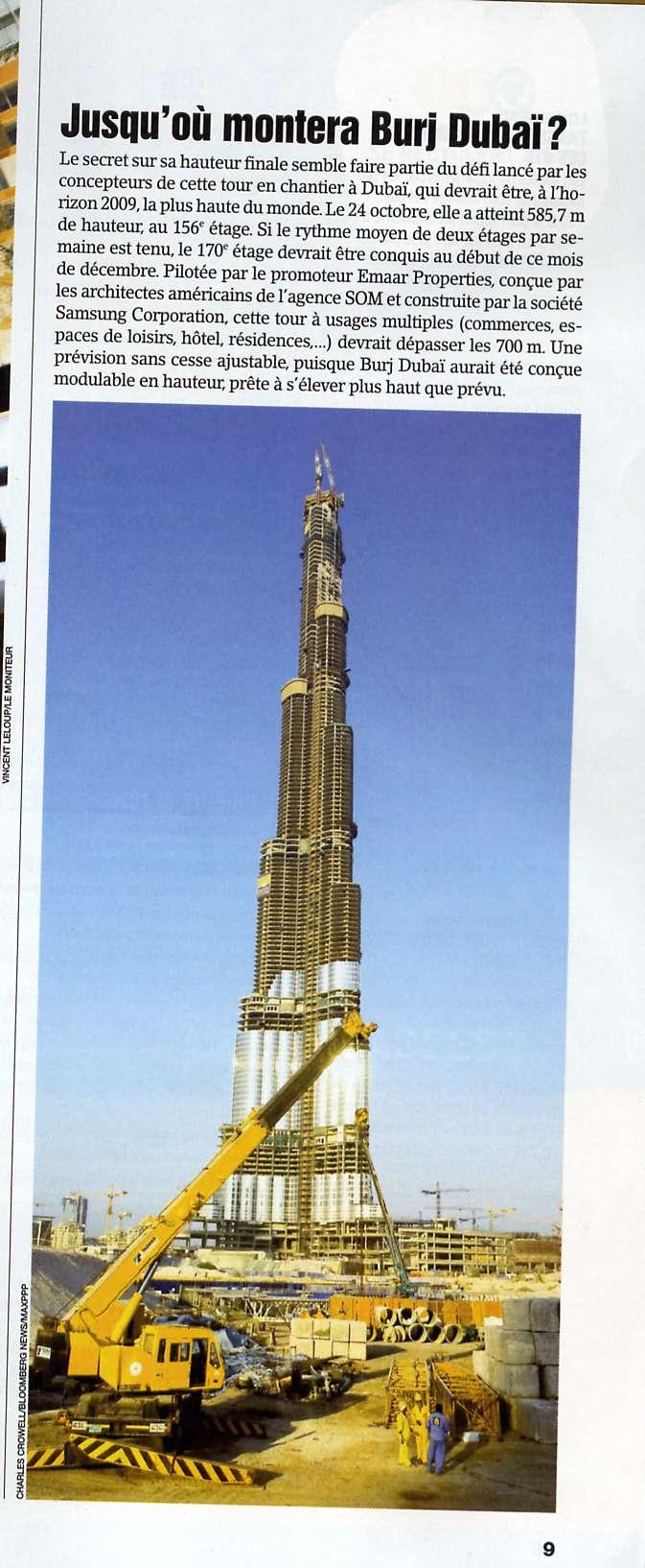 Classement des plus hauts gratte-ciel et tours du monde Dubai10