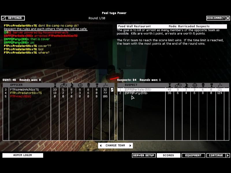FunWar against FTP 13.12.07 Result won Swat4-14