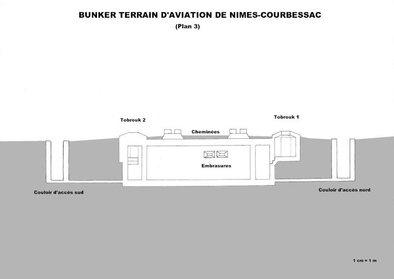 Bunker commandement d'aérodrome : Nîmes - Courbessac (30) Courb_12