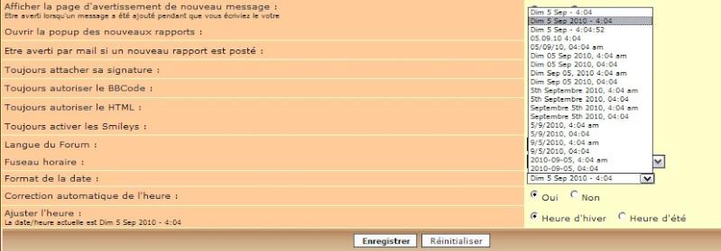 Date d'émission des messages Date10