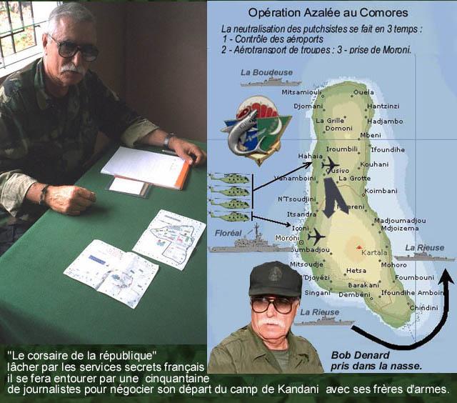 DENARD Bob olonel Comores 1995 dernier baroud 11100810