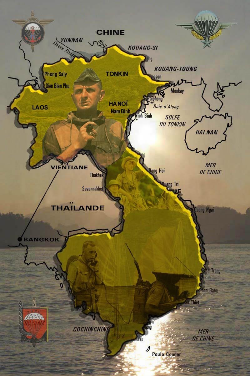 Guerre d'Indochine parcours de Marcel Bigeard 1945/1954 3_plaq15