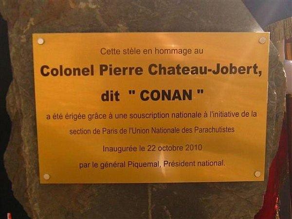 "Inauguration du buste du Colonel ""Conan""Chateau-Jobert Conan_13"