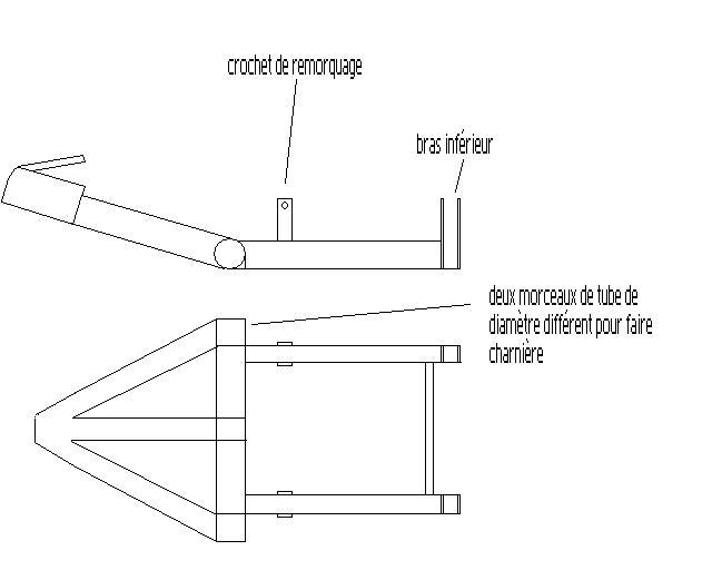 fabrication tow bar pour mini Attela10