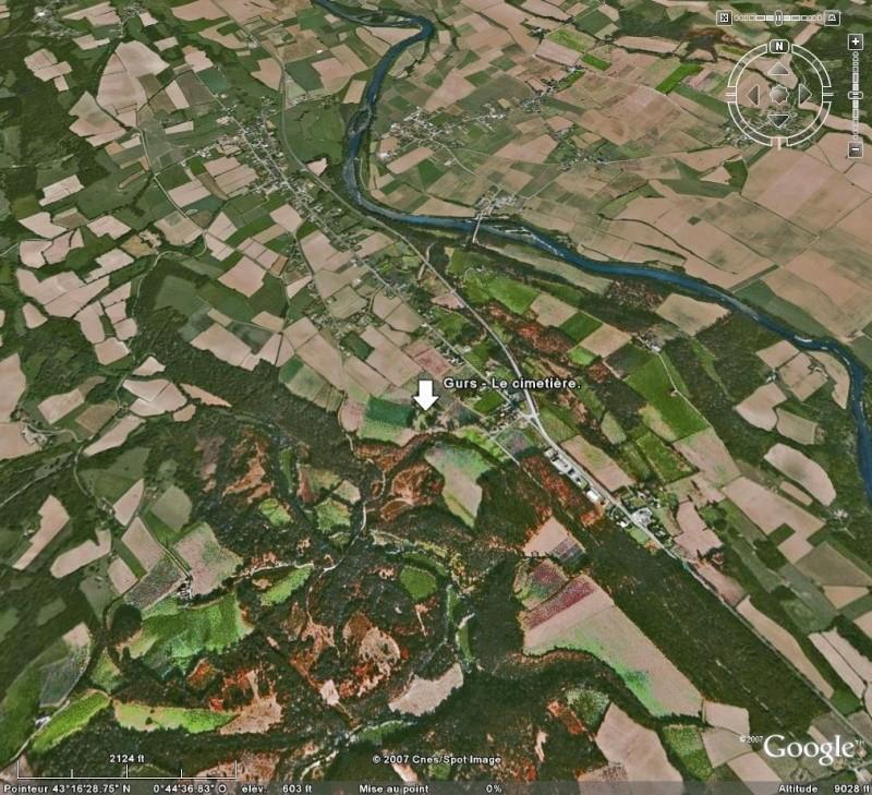 Bagnes et Camps d'internement / déportation découverts avec Google Earth Gurs10