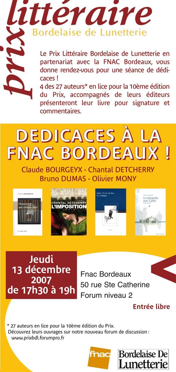 Jeudi 13/12/ Rencontre et dédicaces autour du Prix - Fnac Bx Invita10