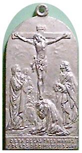 medalla obra de las tres marias y discipulos de S. Juan -s. XX 4a10