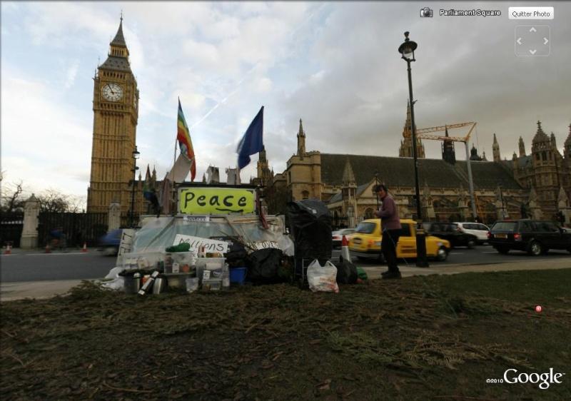 """STREET VIEW: les manifestations dans le Monde vues de la caméra des """"Google Cars"""" No_war11"""