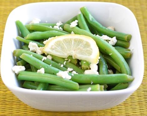 Haricots verts au citron et au fromage féta Sans_t24