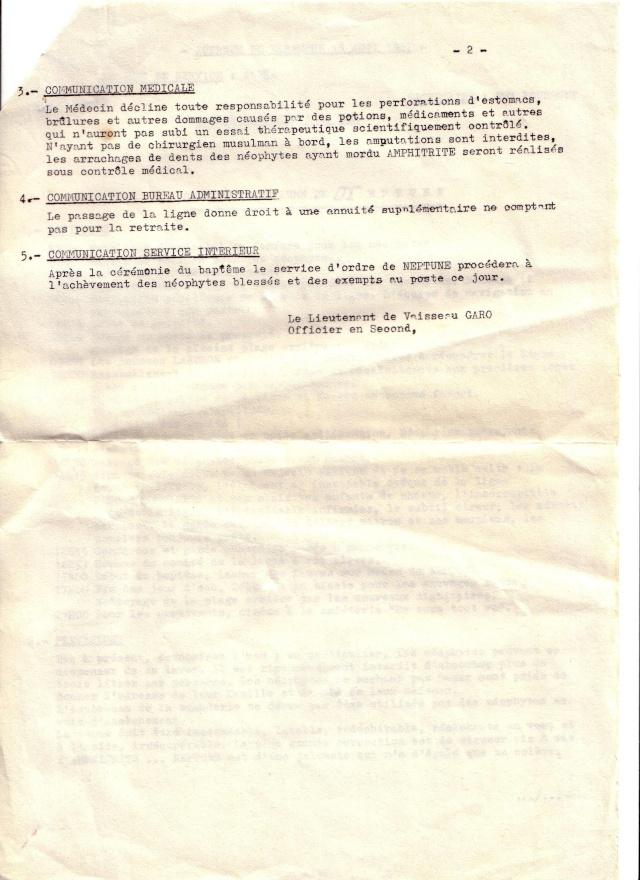 [ Les traditions dans la Marine ] LE PASSAGE DE LA LIGNE - ÉQUATEUR (Sujet unique) - Page 5 Scan1024