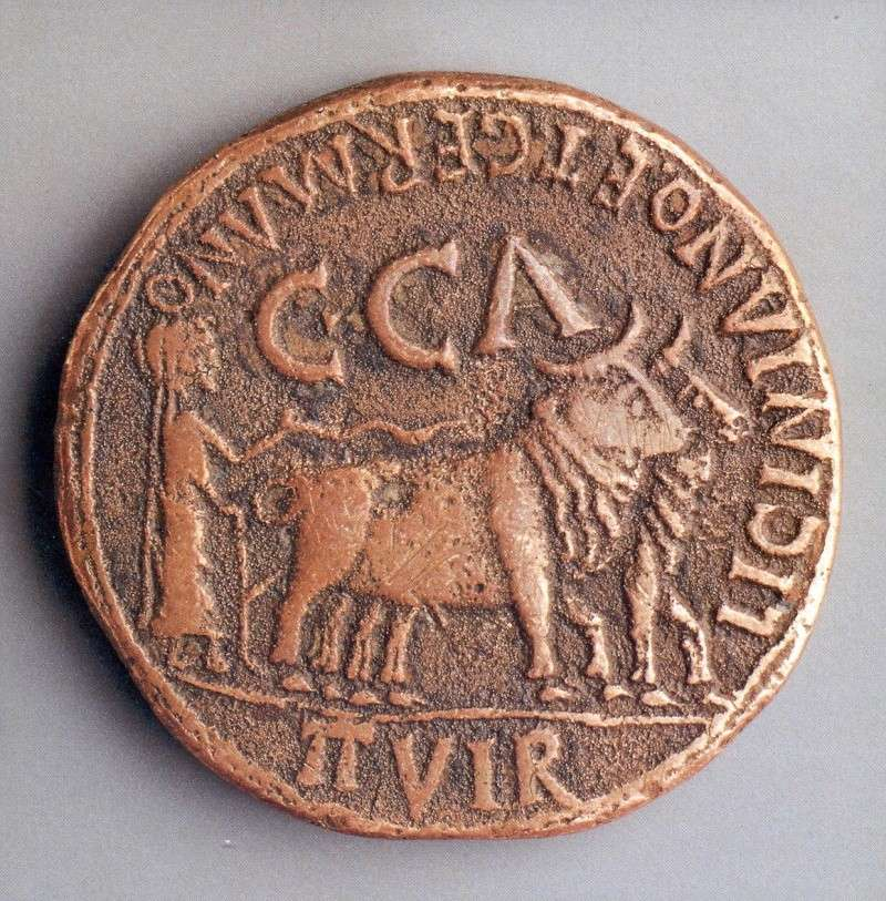 As de Colonia Caesar Augusta, por Tiberio. Marca:aguila Histor10