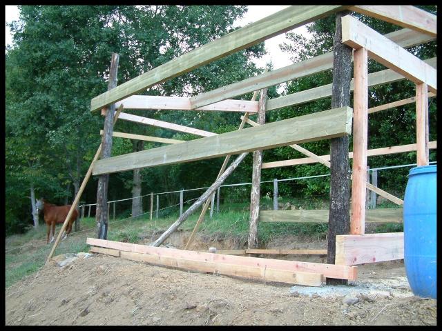 Construction d'un abri pour chevaux Dscf0012