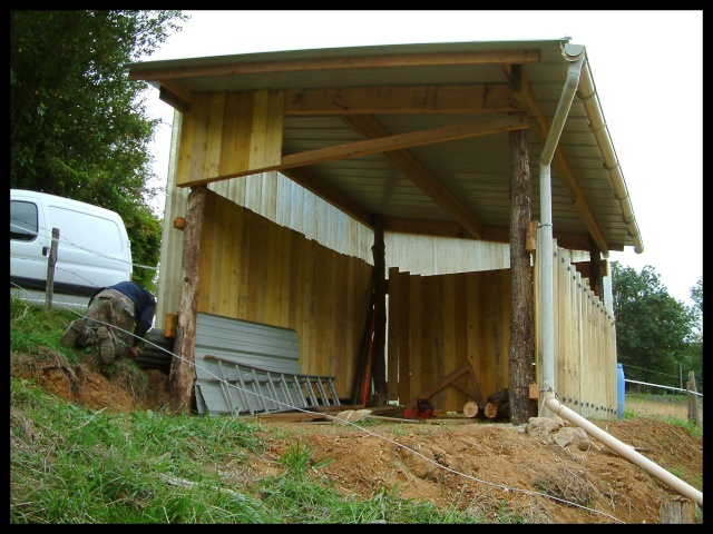 Construction d'un abri pour chevaux Dscf0017