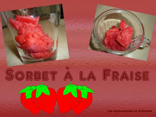 sorbet à lafraise express Sorbet11