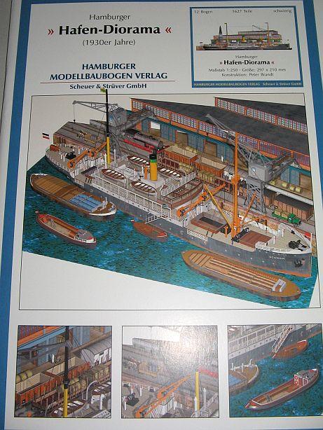 "Lasercutsatz zum ""Hamburger Hafendiorama"" vom HMV Hd0110"