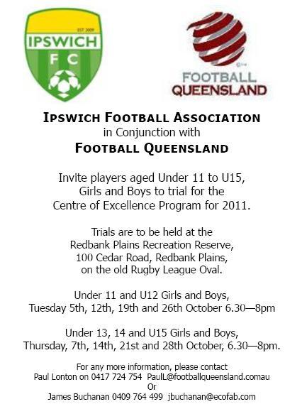 U11/12 Ipswich Centre of Excellence trials Coetri11