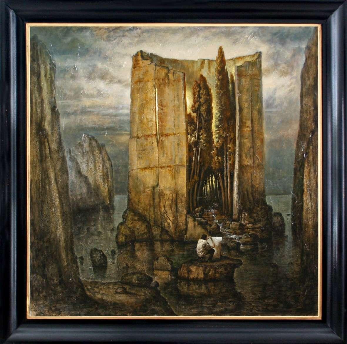 "FIESOLE ""Isole del pensiero"" Böcklin-de Chirico-Nunziante 100x1011"