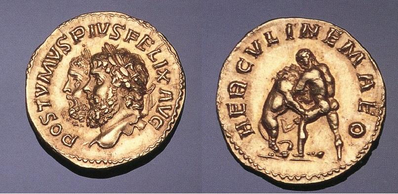 Hercule terassant le lion de Némé Nemee10