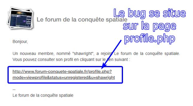 """La page profile.php renvoie une page """"hybride"""" entre un nouvel utilisateur et un ancien 2020-041"""