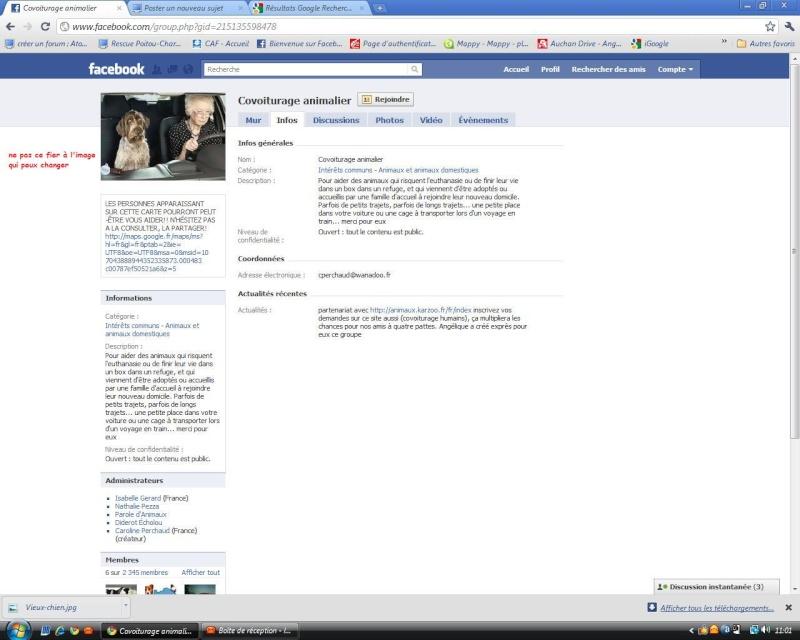 Site facebook qui marche assez bien spécial covoiturage animalier Covoit10