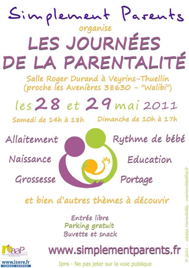 Journées de la Parentalité  28/29 mai 2011 Affich10