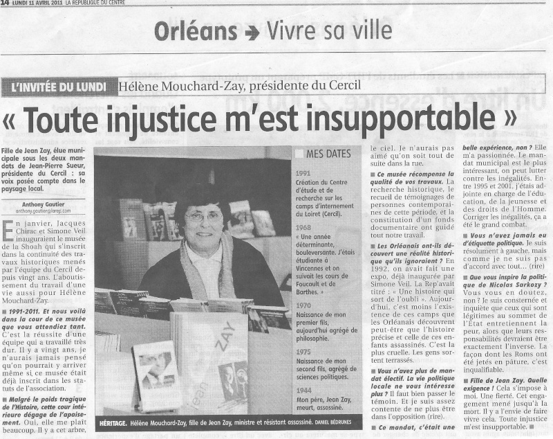 Interview de Mme Mouchard-Zay, présidente du Cercil Cercil10