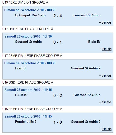 Résultats du club - week end du 23 et 24 octobre 2010 Rasult13