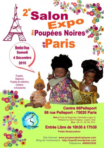 Salon Expo Poupées noires de Paris Affich10