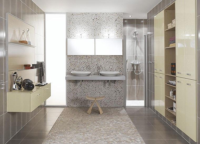 Aide pour d co salle d 39 eau - Petite salle de bain contemporaine ...