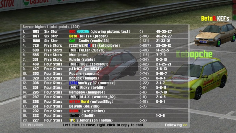 The 30 hours of the Master Race car S2_win12