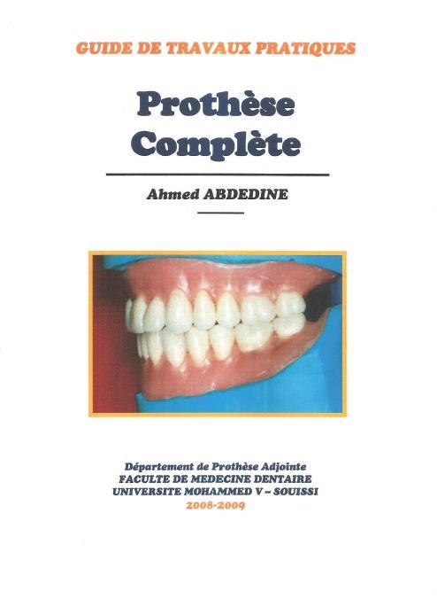 Prothèse complète - Guide de Travaux Pratiques Sans_t23
