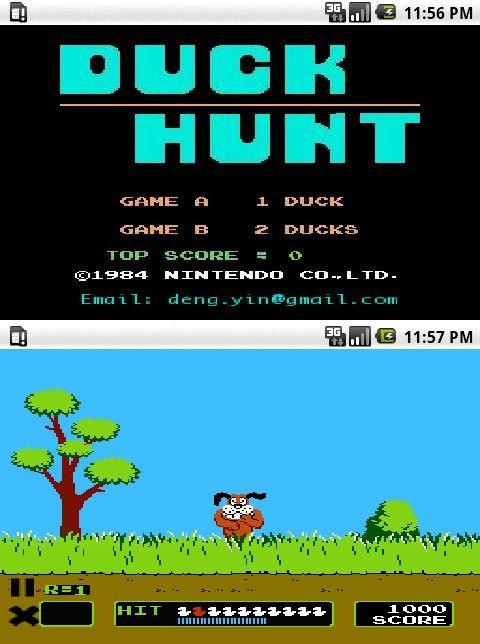 [JEU] DUCK HUNT : Le célèbre jeu NES de tir d'oiseau sous Android [Gratuit] Androi10