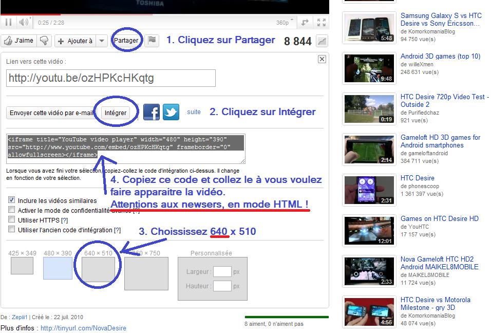[EN CONSTRUCTION] Récupérer le lien d'une vidéo pour la publier Videoy10