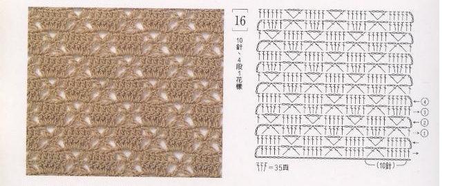 PATRONES-ESQUEMAS-PUNTOS GANCHILLO-CROCHET 1610