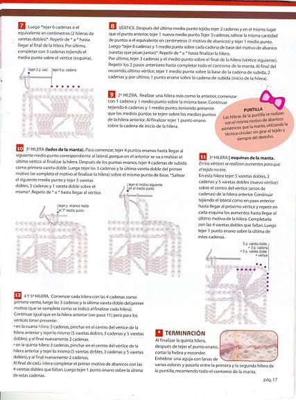 MANTAS-ARRULLOS BEBE GANCHILLO-CROCHET Explor23