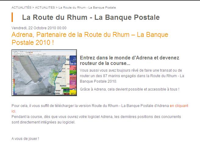 Suivez la Route du Rhum avec Adrena (entre autres) Post-110